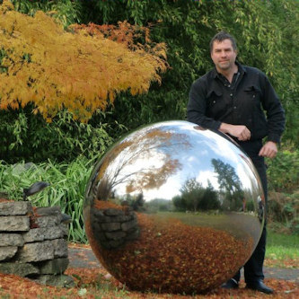 James with sphere for future sculpture